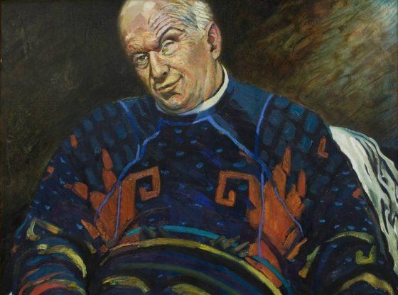 Портрет на Кирил Дончев, 1997 г., автор: Андрей Даниел Левиев, частна колекция