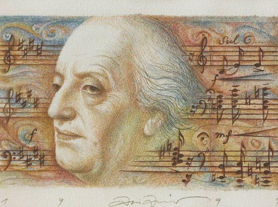 Портрет на Панчо Владигеров, 1989 г., автор: Атанас Атанасов, частна колекция