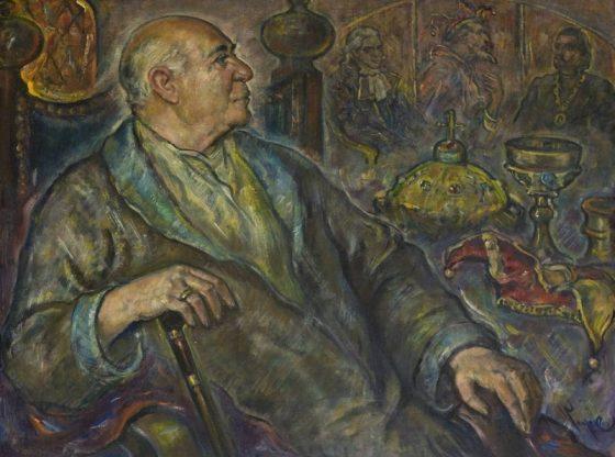 Портрет на Стоян Попов, 2003 г., автор: Георги Кьосеилиев, частна колекция