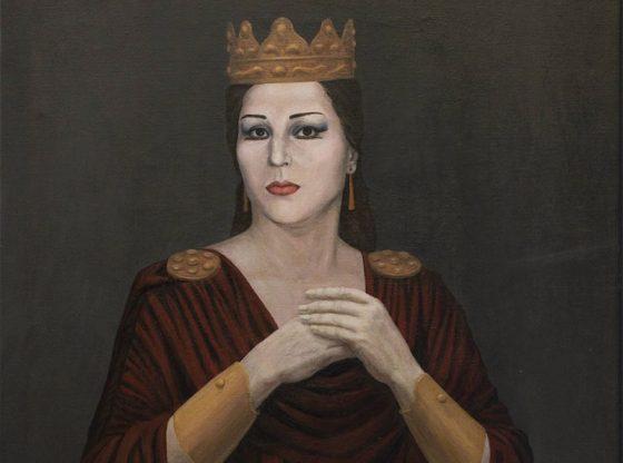 Портрет на Гена Димитрова, автор: Мария Столарова, 1988 г., частна колекция