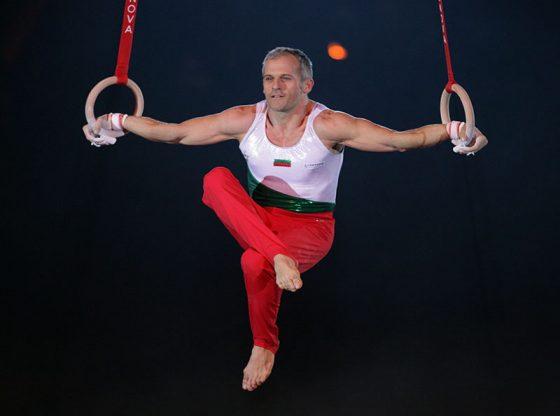 Йордан Йовчев в коронната си дисциплина халки