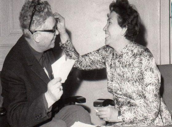 Актрисата с фотожурналиста Тодор Славчев през 70-те г. на ХХ в.