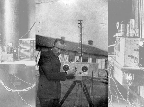 Инж. Георги Вълков със своя радиопредавател