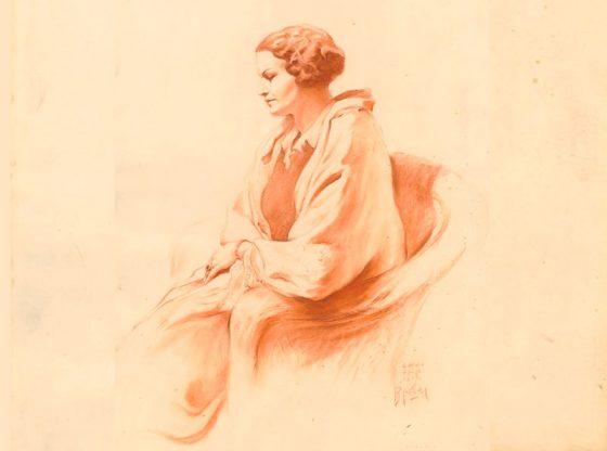 Знаменитият портрет на Багряна, направен през 1933 г. от словенския художник Божидар Якац