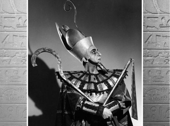 """Любомир Вишегонов в ролята на фараона на Египет във Вердиевата опера """"Аида"""", Метрополитън опера, сезон 1951/52 г."""