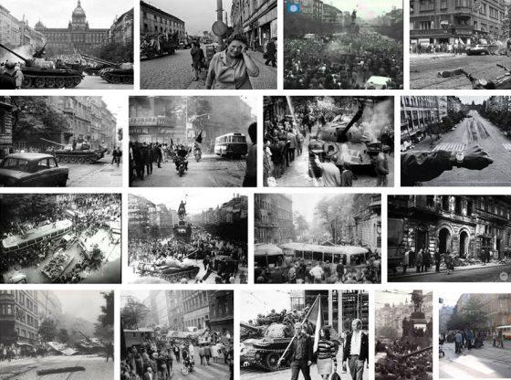 По улиците на Прага през август 1968 г.