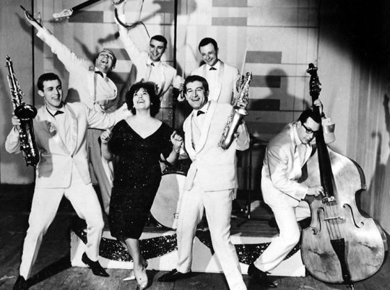 """Леа Иванова с """"Еди Казасян Комбо"""", краят на 50-те години на XX в."""