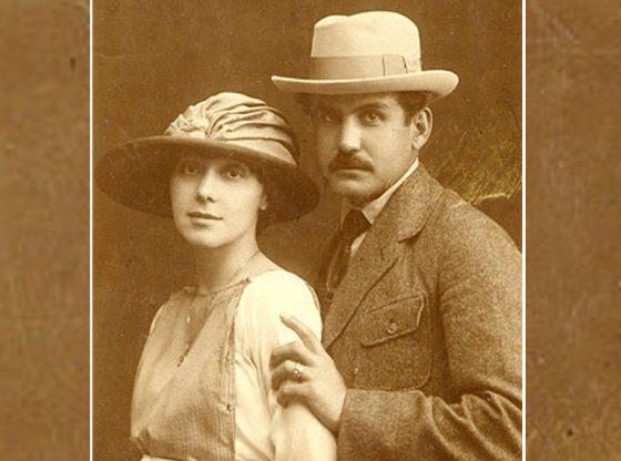 Сирак Скитник със съпругата си Олга Симеонова