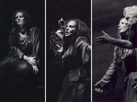 """В ролята на Азучена от """"Трубадур"""" на Верди, на средната снимка с Франко Бонисоли, на дясната – с Херберт фон Караян"""