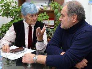Йорданка Дичкова заедно с настоящия кмет на Нови хан Петко Костов