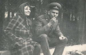 Лина Бояджиева със сина си Кристиян Бояджиев през 1972 г.