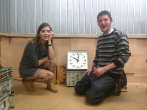 Белослава Димитрова в студиото на Бинар с Йордан Радичков - внук, 2013 г.