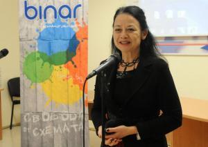 """Паулиана Новакова – първият директор на Интернет радио """"Бинар"""", 2012 г."""