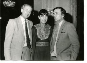 С поетите Божидар Божилов (вляво) и Любомир Левчев
