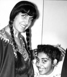 С дъщеря си Оля Ал-Ахмед