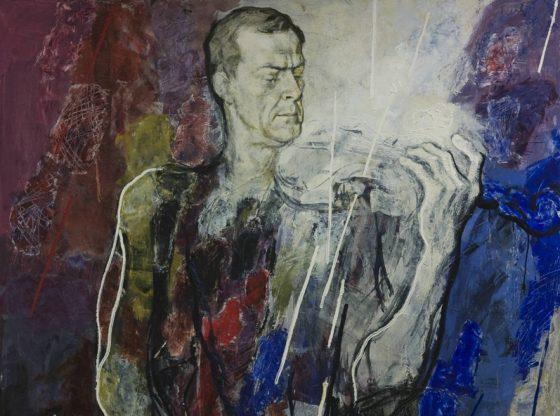 Портрет на Минчо Минчев, 1993 г., автор: Светлин Русев, ателие-колекция на Светлин Русев