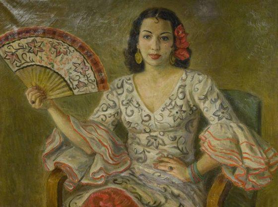 Портрет на Илка Попова, 1946 г., автор: Люба Паликарова, Софийска опера