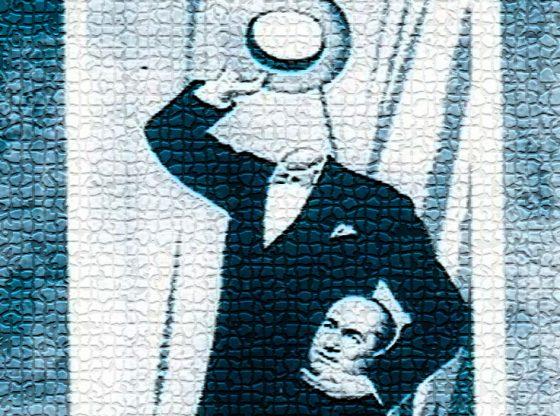 """За най-известната си илюзия """"Сваляне на главата"""" Мистер Сенко получава специалната награда на Американската асоциация на илюзионистите през 1961 г."""