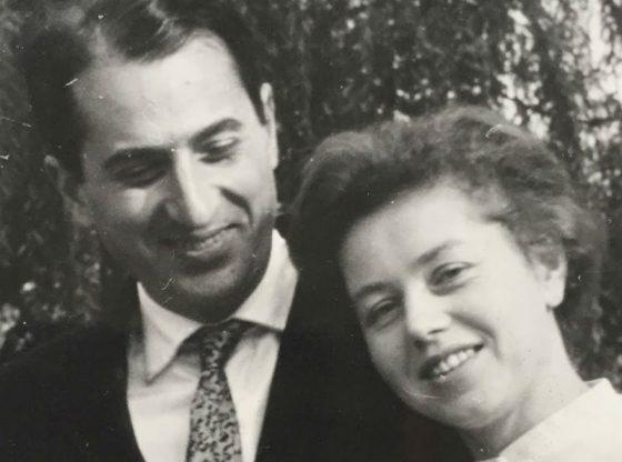 Композиторът със съпругата си Анна-Лидия Николова