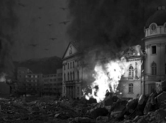 """Въздушни удари над София на 20 декември 1943 г. – бомбардировачи над пл. """"Народно събрание"""""""