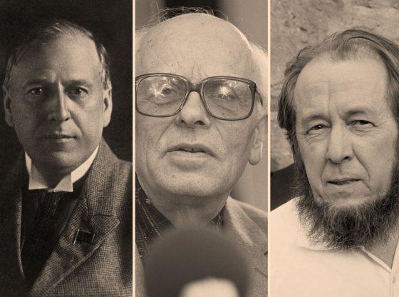 в, Александър Солженицин (от ляво надясно)
