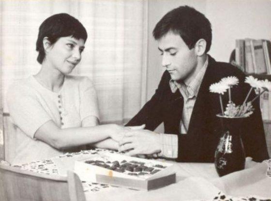 """С Невена Коканова във филма """"Момчето си отива"""" (1972 г.)"""