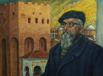 Портрет на проф. Асен Василиев (фрагмент) от Николай Ростовцев