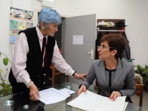 Йорданка Дичкова заедно със Сашка Ненова – кмет на Нови хан в периода 2007 – 2011 г.